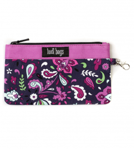 Plum Paisley Small Accessory Bag