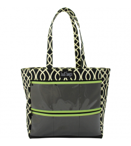 Black Lattice Large Display Tote