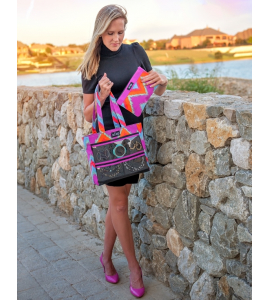 Blazing Ikat Original Display Tote